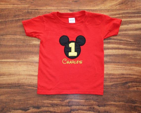 Mickey Mouse Birthday Disney Shirt