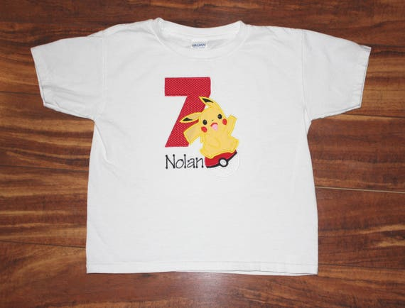 7bcccf8b Pokemon Birthday Shirt Pokemon shirt Pokemon ball Pikachu | Etsy
