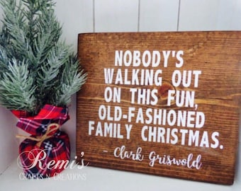 christmas vacation wood sign christmas vacation home decor clark griswold christmas quote christmas decor holiday decor home decor