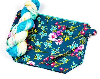 """PRE0RDER--""""May Flowers""""--Project bag and matching yarn kit"""