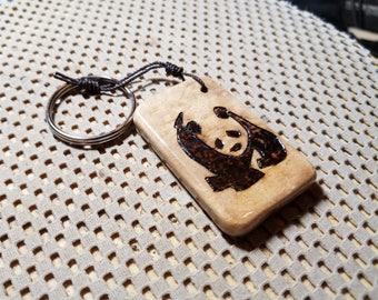 Panda Myrtlewood Keychain
