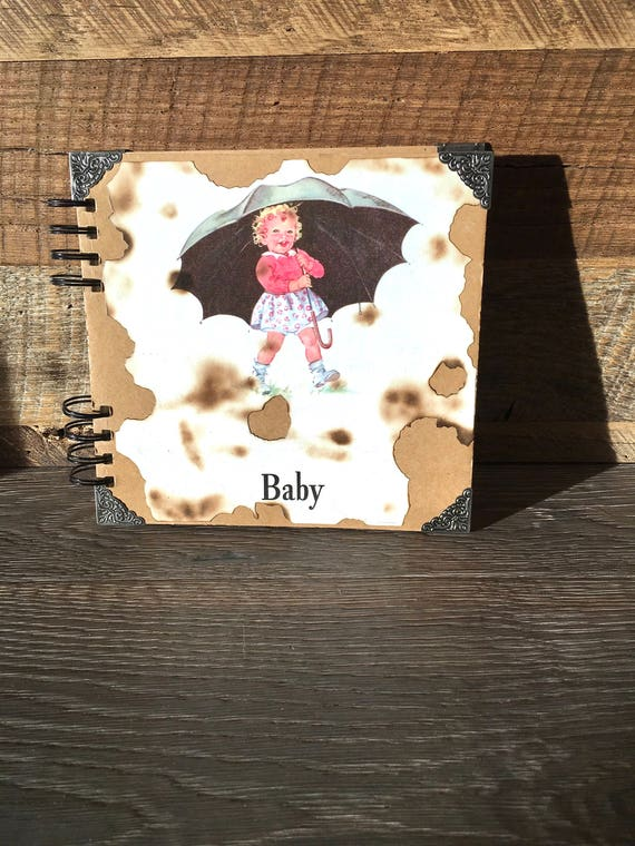 Vintage Baby First Year Record Book Baby Scrapbook Unused Etsy