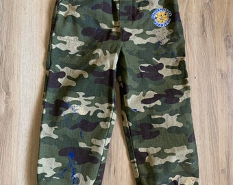 f708635bc323a Custom Warriors Camo Joggers with Paint Splatter Size  5T