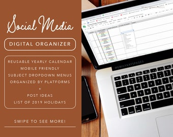 Social media planner | Etsy