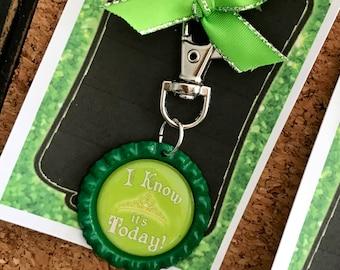 SHREK Musical, Princess Fiona Bottle Cap Purse, Backpack, Key Ring Clip, Musical Theatre Jewelry
