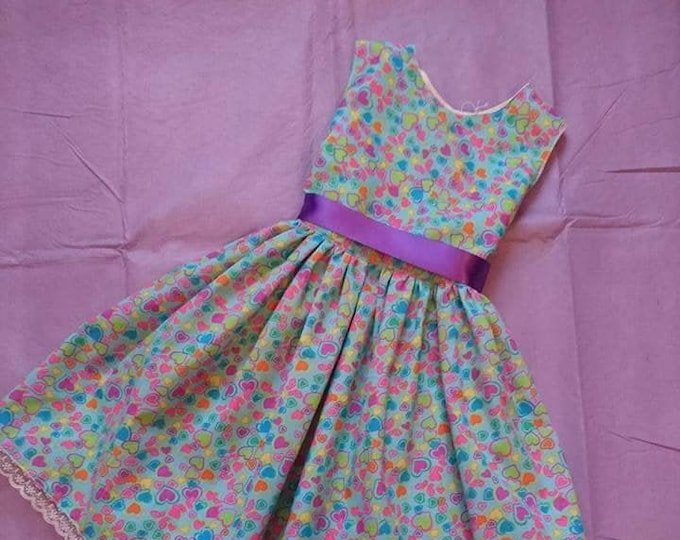 Handmade dress for girls, 1st Birthday outfit, Occasion dress, Twirly Dresses for girls, birthday gift for girls, Christmas gifts for her