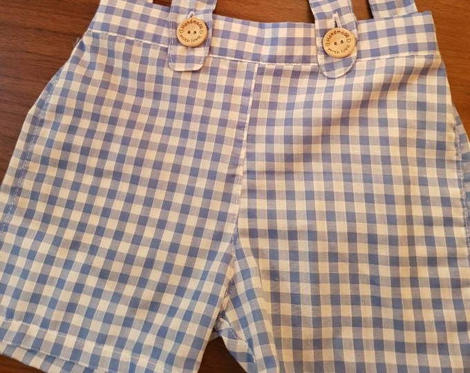 Handmade shorts, Suspender shorts, handmade shorts for children, baby boy gift, Baby boy going home outfit, Baby boy arrival gift