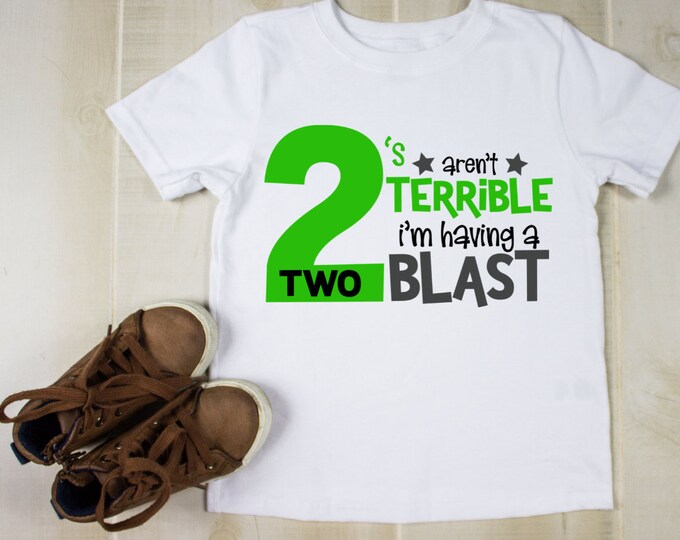 Kids personalised t shirt, Second birthday tshirt, Terrible twos, aunty gifts, birthday gift for baby, custom tshirt for baby