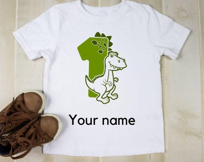 Boys dinosaur t-shirt,Personalised tshirt for boys,Birthday t shirt boy, Birthday gift for boy, Custom gift for kid, dinosaur gifts for kids