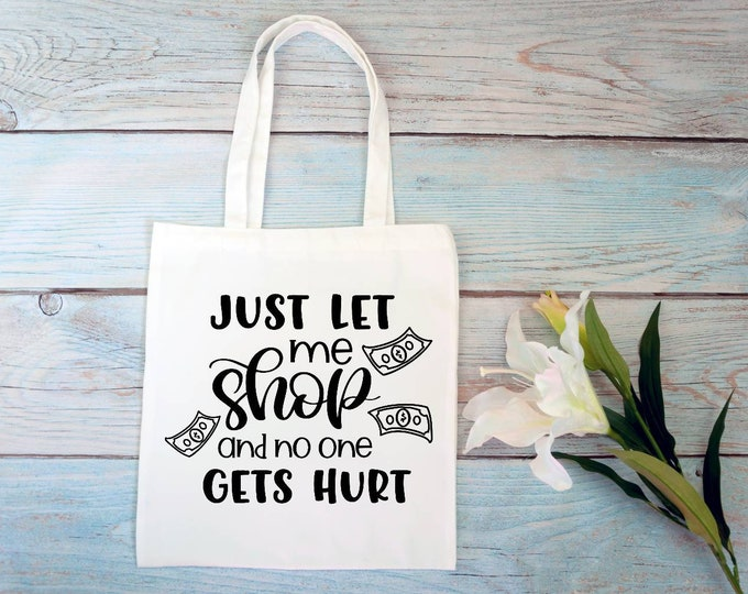 Tote bag with quote, funny tote bag, tote bag for summer, off white tote bag, personalised gift for her, custom gift for friend