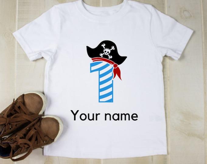 Boys pirate shirt, Kids Personalised T Shirt, Personalised tshirt for boys, Birthday t shirt boy, Birthday gift for boy, Custom gift for kid