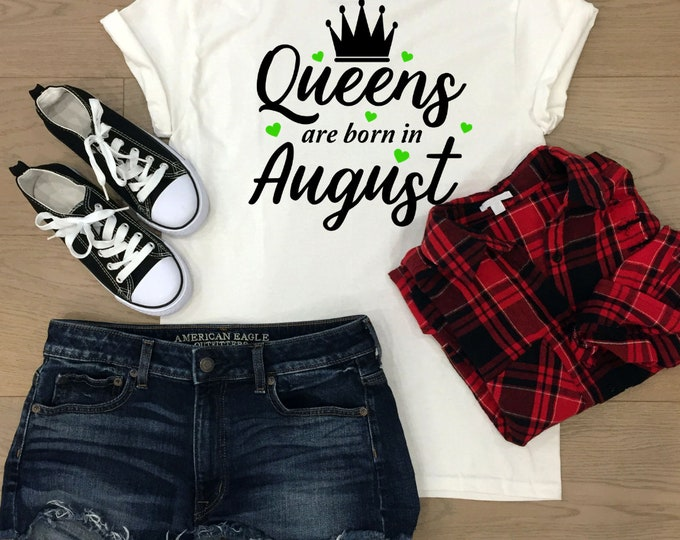 Queens Are Born In August, birthday gifts,christmas gifts for teenagers, Adult stocking stuffers, Secret santa gift, best friend gifts
