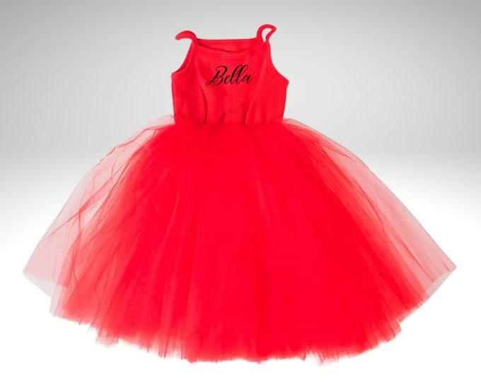 First birthday tutu dress, Girls tulle dress, birthday gift for baby, christmas dress, Christmas gifts for girls, daughter gift from mom
