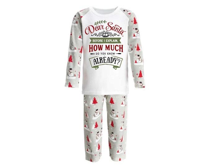Funny Christmas pajamas, Christmas Eve gift, Kids christmas pyjamas, Personalised gift for kids, Christmas gifts for kids, Stocking stuffers