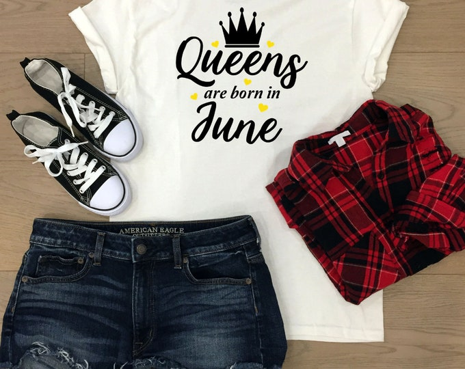 June Birthday gift, Birthday queen tshirt, Birthday gift for her, christmas gifts for teenagers, Adult stocking stuffers, Secret santa gift