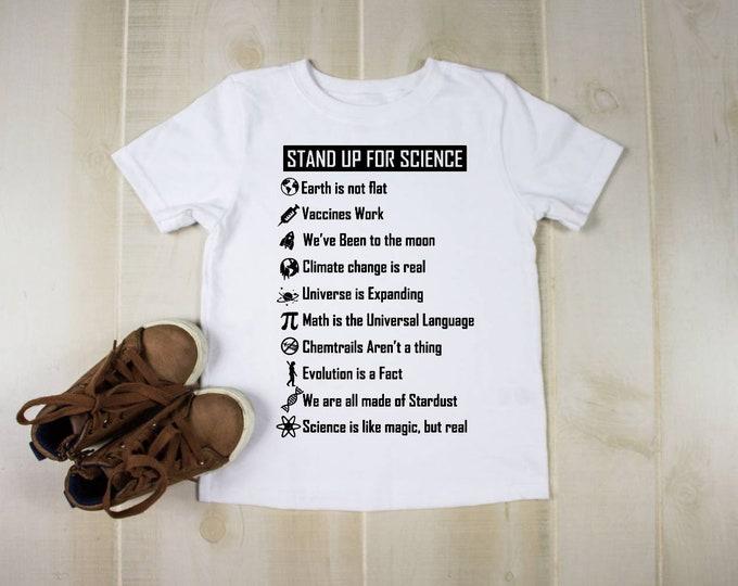 Kids Personalised TShirt, Custom Kids TShirt, Personalised Childrens Tshirt, kids tshirt for 7year old boy, science tshirt, nerdy gifts
