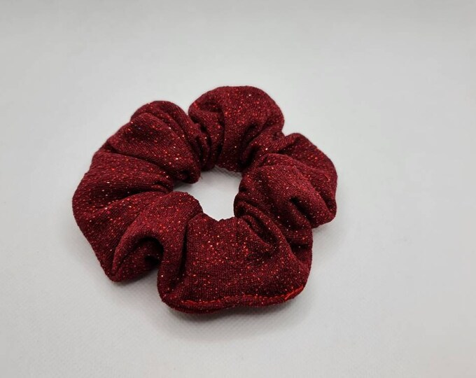 Glitter scrunchies, Red Scrunchies, Christmas scrunchies, Stocking stuffers for girls, Bff gifts, Secret santa gift, Holiday gifts for mom