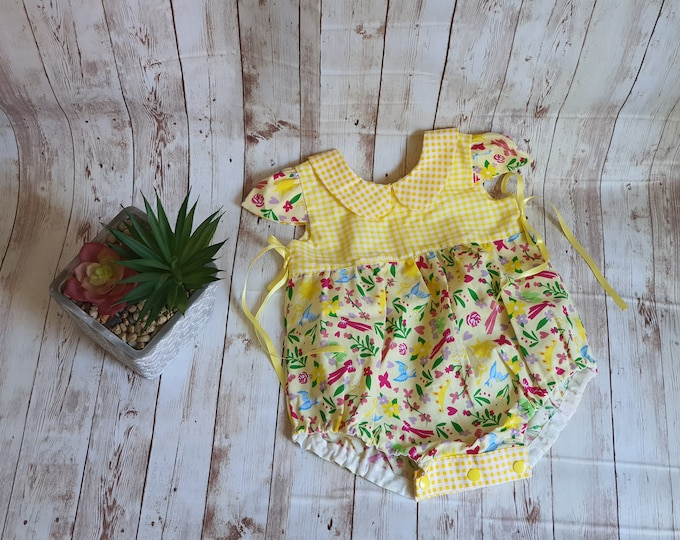 Bubble romper, Baby's first birthday, First birthday outfit, handmade gifts, birthday gift for baby, custom birthday gift, Baby romper