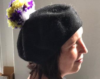 ebcffecc5ea56 Lenora Dame beret with pom pom