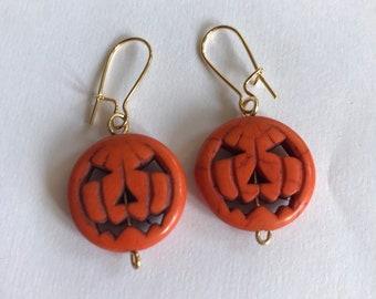 Lenora Dame - Pumpkin King Earring - Pumpkin Jewelry - Fall Accessory - Halloween Earring