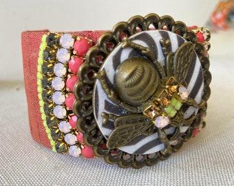 Lenora Dame Bee Pollen Cuff Bracelet