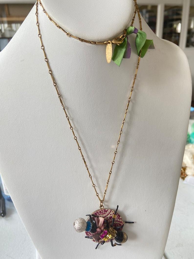 Lenora Dame Creepy Crawler Pendant Necklace
