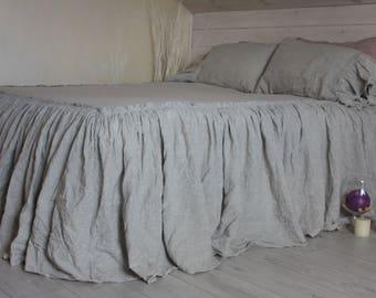 Linen Bedspread Etsy