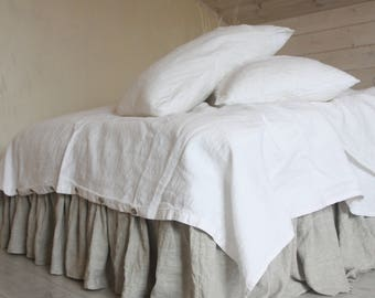 linen DUVET COVER SET with two pillowcases 100% natural flax washed linen bedding California King Queen Full  Double Single size