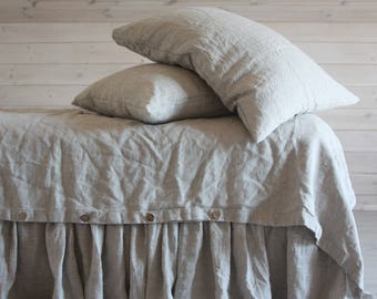 LINEN DUVET COVER set with two pillowcases 100% natural flax washed linen bedding California King Queen Full