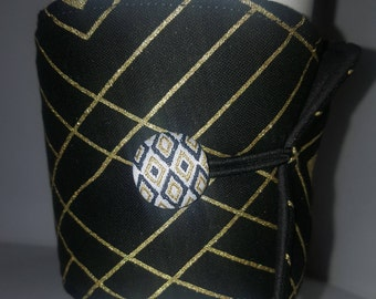Black and Gold Drink Sleeve