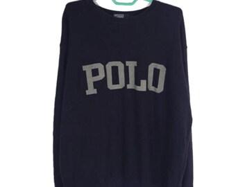 8847fd222e5b3 Vintage Polo by Ralph Lauren big Polo spellout sweatshirt   polo bear  sweatshirt   polo USA   polo sportsman   sweater   pullover