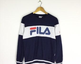 d71622b27511 FILA Sweatshirt Color Blocks Spellout Fila Big Logo