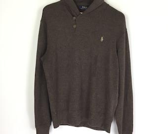 e486a7d84 Polo Ralph Lauren Collar Button Sweater   Sweatshirt Jumper Crewneck Hoodies