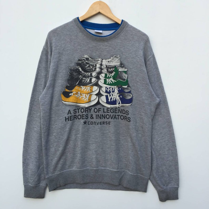 3f8423096522 Rare Converse Sweatshirt A Story of Legends Heroes and