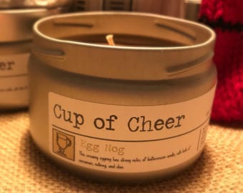 Cup of Cheer - Egg Nog 8 oz. Candle