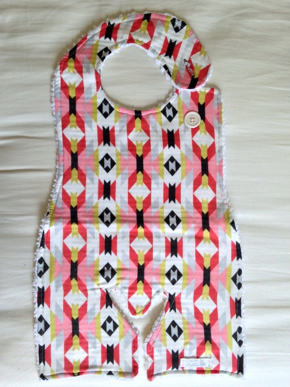 ORGANIC Long baby bib toddler size Aztec print made of cotton  91d4b1d31