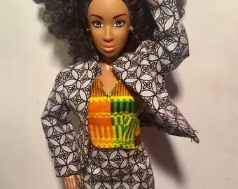 aab5b46248c African Doll Clothes -Skirt Set 32 by Laylee M Doll Clothes -FREE shipping