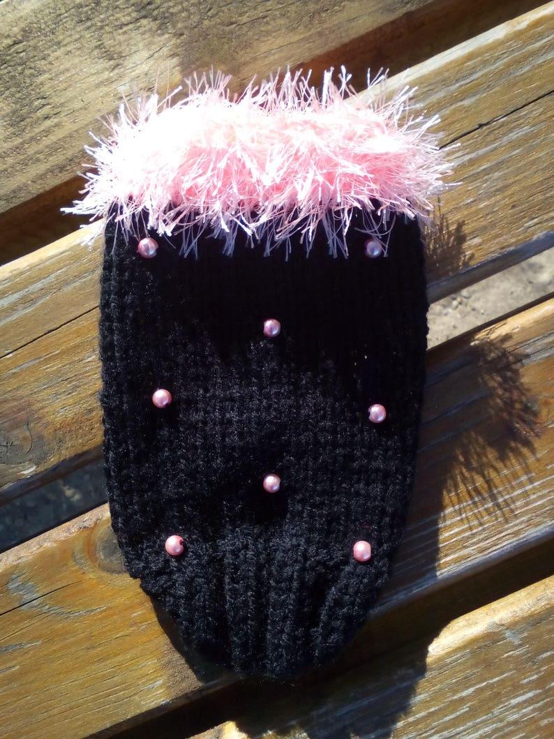 Black Rose Dog Knit Clothes Coat Jacket Knit Petwear Rabbit Guinea Pig Roar Dog Pullover Cat Apparel  Chihuahua Teacup XXS xs s m l xl XXL