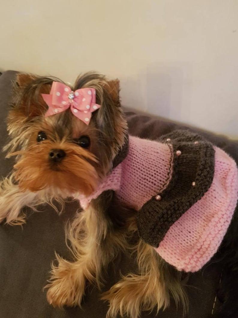 Rose Pink Gray Dog Cat Dress xxxs XXS xs S m L xl XXL Dog Coat Knit Petwear Dog Rabbit Guinea Pig Roar Knit Pet Apparel Chihuahua