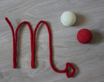 Astrological sign in knitting, decoration, gift wool