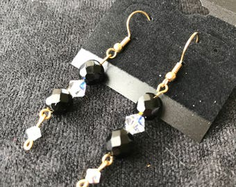 Black and Clear Earrings