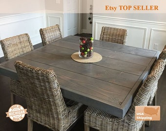Farm House Table, Farm Table, Pedestal Table, Dine Table, Square Dining Farm Table, Dining Table, Furniture, Pedestal, Farmhouse Table