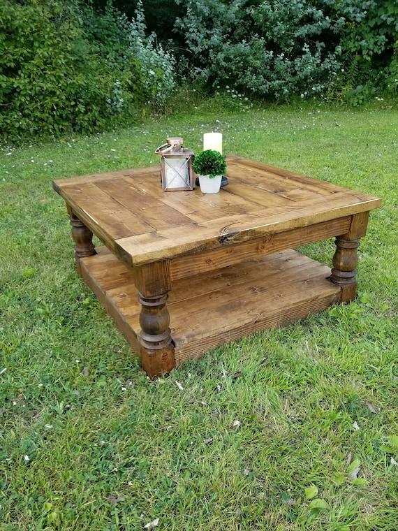 tout neuf a8798 27b5c Table basse, Table basse de ferme maison, Table, dîner Table, Table basse  rustique