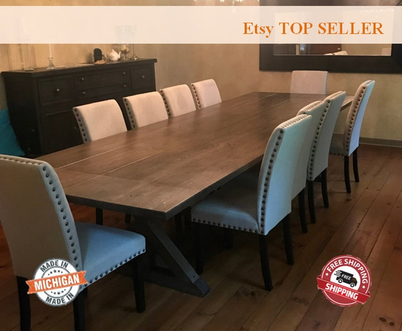 Extension Table, Leaf Table, Dining Table, Dine Table, White Oak, Farm  Table, Farmhouse Table, Double Extension, Dining Room Table