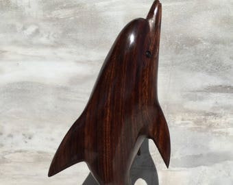 Ironwood Dolphin Carving