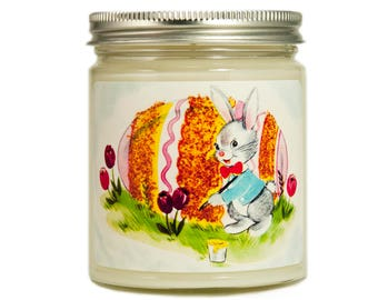 Easter Bunny Candle, Easter Gift, Easter Decor, Container Candle, Soy Candle, Vintage Candle,  Vintage Easter, Spring Candle