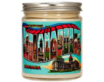 Indianapolis Indiana Gift, Indianapolis Indiana Candle, Homesick Candle, Scented Candle, Container Candle, Soy Candle, Candle Gift