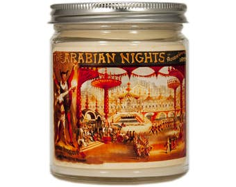 Arabian Nights Soy Candle, Burlesque Candle, Boudoir Candle, Scented Candle, Container Candle, Soy Candle, Bedroom Decor, Arabian Nights