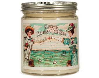 Beach Soy Candle, Scented Candle, Vintage Beach Candle, Container Candle, Soy Candle, Beach Gift, Beach Decor, Beach House Decor