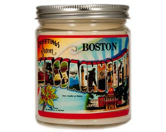 Boston Massachusetts Gift, Boston Massachusetts Candle,Homesick Candle, Boston Candle, Scented Candle, Container Candle, Soy Candle